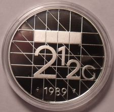 Buy Rare Encapsulated Proof Netherlands 1989 2 1/2 Gulden~15,300 Minted~Free Ship
