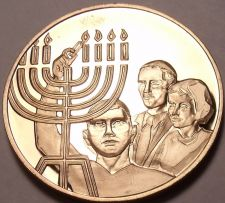 Buy Massive Franklin Mint Bronze Proof Medallion~9 Candle Israel Manorh~Free Ship