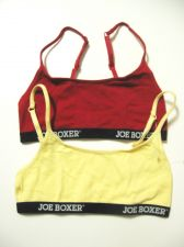 Buy SB0048 Joe Boxer Lingerie NEW Signature Logo Solid Cotton Knit Bralette S M L PR