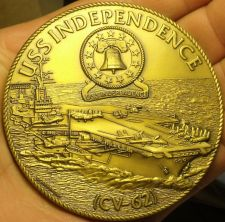 Buy Massive 76.1mm Solid Bronze U.S.S. Independence CV-62 U.S. Navy Medallion~Fr/Shi