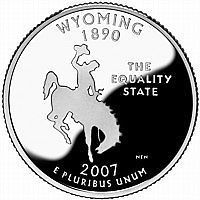 Buy 2007-D WYOMING GEM BRILLIANT UNCIRCULATED STATE QUARTER~FREE SHIPPING INCLUDED~