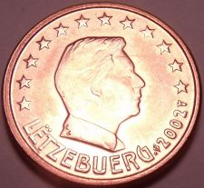 Buy Gem Unc 2002 Luxembourg 2 Euro Cents~See All Our Unc Coins~Free Shipping
