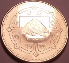 Buy Gem Unc Nepal VS2603 (2006) 2 Rupees~Mount Everest~Water Buffalo~Free Shipping