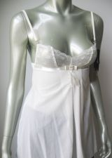 Buy A428C Elle Macpherson NEW E10-542B Bridal Boudoir 012 Sheer French Lace Babydoll S M
