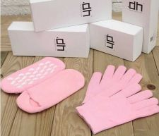 Buy Skin Care Manicure Kit Moisturizing Silicone Gel Spa Slaon Socks sock Gloves