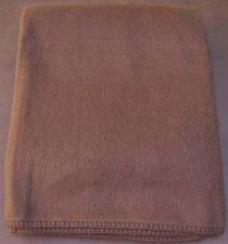 "Buy Alpaca Fiber Blanket Throw Size Brown Crocheted Edges 51"" x 63"" Made in Peru"
