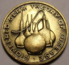 Buy Unc Louis Pasteur Medallion~Pioneered Germ Theory Of Disease~Awesome~Free Ship