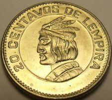 Buy Gem Unc Honduras 1973 20 Centavos~Chief Lempira~Fantastic~Free Shipping