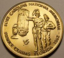 Buy Massive 51mm Fort Caroline National Memorial Medallion~France Claims Florida~F/S