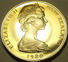 Buy Cameo Proof New Zealand 1980-I 50 Cents~H.M.S. Endeavour~17K Minted~Free Ship