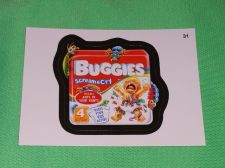 Buy RARE 2015 Willy Wonka Wacky Package BUGGIES Collectors Sticker Card Mint