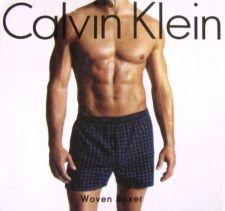 Buy X309 Calvin Klein NEW U1570 Men's Blue Checker Woven Slim Fit Boxer Shorts XL PR