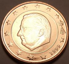 Buy Gem Unc Belgium 1999 1 Euro Cent~See All Our Gem Unc World Coins~Free Shipping