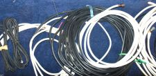 Buy 10 standard screw on coaxial cords (6ft+) cables bunch box full satellite wires