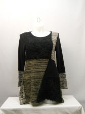 Buy Plus Size 1X Women's Patchwork Sweater STYLE&CO. Black Tunic Asymmetrical Pullov
