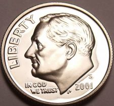 Buy SUPER 2001-S PROOF CAMEO AWESOME ROOSEVELT~~FREE SHIP~~