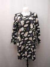 Buy Women's Sleep Shirt Size L 12-14 Micro Fleece Long Sleeve Pullover Sheep Print