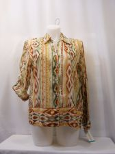 Buy Alfred Dunner Button Down Shirt Long Roll Tab Sleeves Size 16