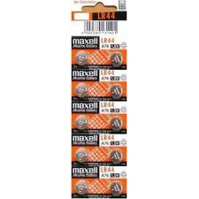 Buy Maxell Batteries LR44 (A76, AG13) Alkaline Button Size Battery,10 Pack