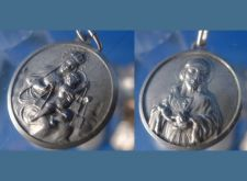 Buy MARY & BABY JESUS SIDE ONE / JESUS CHARM / MEDAL: 800 SILVER