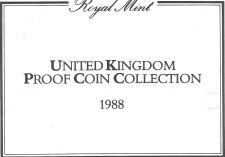 Buy 1988 Great Britain 7 Coin 3 Page C.O.A. Document Set~Free Shipping