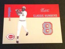 Buy MLB JOE MORGAN REDS HOF 2003 FLEER CLASSIC NUMBERS INSERT #11/13 GD-VG