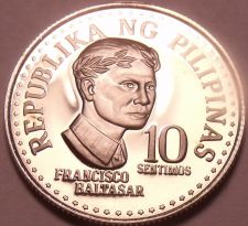 Buy Rare Cameo Proof Philippines 1977 10 Sentimos~4,822 Minted~Free Shipping