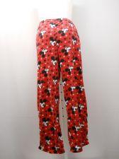 Buy SIZE 20 Womens Pajama Bottoms DISNEY Red Micro Fleece Sleepwear Straight Legs