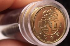 Buy Gem Unc Roll (50 Coins) Macao 1993 10 Avos~Crowned Lion Dancing~Excellent~Fr/Shi