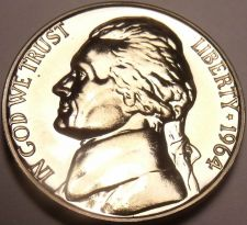 Buy United States Proof 1964 Jefferson Nickel~Free Shipping
