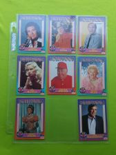 Buy VINTAGE LOT OF 8 1991 STARLINE HOLLYWOOD SUPERSTAR COLLECTORS CARDS LOT #4 GD-VG