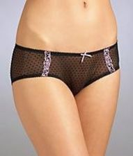 Buy A132H Jezebel NEW 70354 Obsession Embroidered Logo Sheer Mesh Dots Lace Hipster