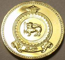 Buy Gem Cameo Proof Ceylon 1971 50 Cents~Only 20,000 Minted~Last Year Ever~Free Ship