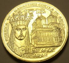 Buy Gem Unc Romania 2012 50 Bani~Incredible Details~Reign Of Neagoe Basarab~Free Shi