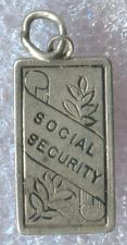 Buy vintage CHARM : RETIRE WITH SOCIAL SECURITY STERLING 925 SILVER