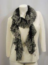 "Buy Charter Club Chenille Ruffled 92% Acrylic knitted Warm Scarfs 70""X 9"""