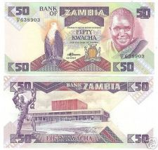 Buy ZAMBIA LARGE SUPER COLORFUL UNC 50 KWACHA~FREE SHIPPING