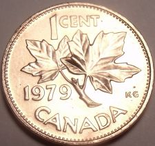 Buy Gem Unc Canada 1979 Maple Leaf Cent~Reduced Bust~Free Shipping
