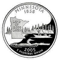 Buy 2005-D MINNESOTA GEM BRILLIANT UNCIRCULATED STATE QUARTER~FREE SHIPPING INCLUDED