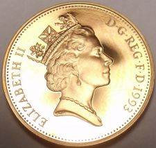 Buy Gem Cameo Proof Great Britain 1993 Penny~Only 100,000 Minted~Free Shipping