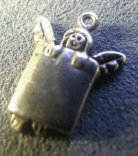 Buy Vintage Sterling Charm : Garden Fairy Peeking Over a Wall #24483 OMG