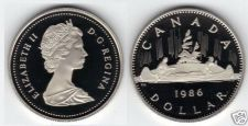 Buy MASSIVE PROOF CANADA 1986 VOYAGEUR DOLLAR~EXCELLENT~F/S