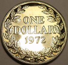Buy Huge Rare Proof Liberia 1972 Dollar~Only 4,866 Minted~Proofs R Best~Free Ship