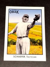 Buy MLB 2011 TRISTAR OBAK SCHAEFER TACTICIAN #31 GD-VG