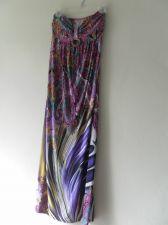 Buy Beautiful Colorful Sleeveless Stretch Maxi Dress One Size Padded Bodice