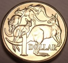 Buy Gem Unc Australia 1984 Dollar~Mob Of Roo's~1st Year Ever Minted~Free Shipping