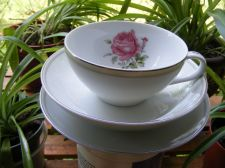Buy ** Tea Cup, Saucer and Bread Plate - Imperial Rose **