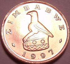 Buy Gem Unc Zimbabwe 1997 Cent~Bird Statue~We Have Gem Unc World Coins~Free Shipping