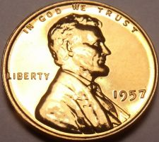 Buy Rare Proof United States 1957 Wheat Cent~We Have Proof Cents~Free Shipping