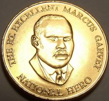 Buy Gem Unc Jamaica 2003 25 Cents~Marcus Garvey National Hero~Excellent~Free Ship